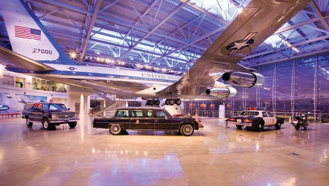 This is the Air Force One Pavilion at the Ronald Reagan Presidential Library & Museum in Simi Valley.
