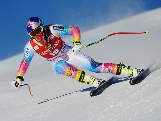 Lindsey Vonn of the USA competes during the Audi FIS Alpine Ski World Cup Women's Downhill Training on December 04, 2013 in Lake Louise, Canada.