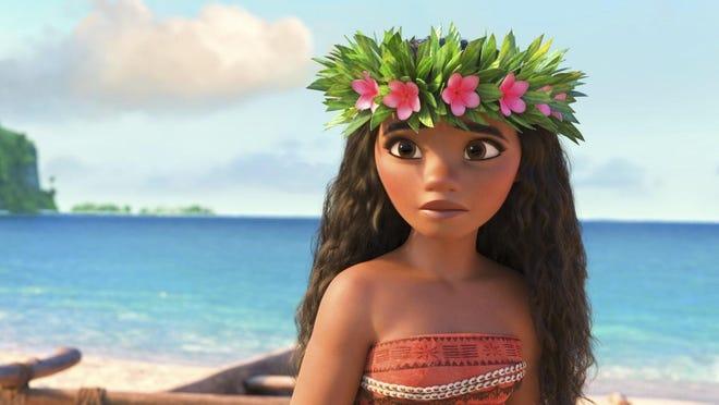 "Moana, voiced by Auli'i Cravalho, in a scene from the animated film, ""Moana."""