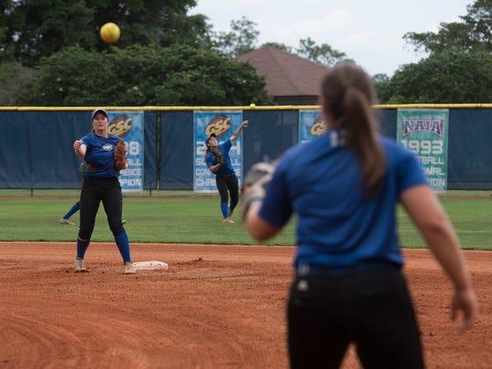 UWF's softball team gets one last practice on their