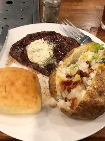 Warren's half-pound sirloin steak, chargrilled with