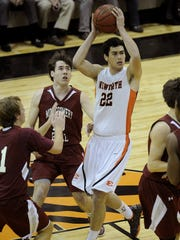 Ensworth's Andrew Fleming (22) led the Tigers to a fourth straight Division II-AA title in March. Fleming committed to Iowa on Monday.