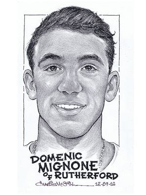 Domenic Mignone, Rutherford basketball