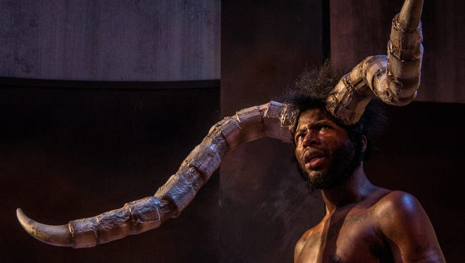 """Landon Horton stars as Aster the Minotaur in the Know Theatre production of Steve Yockey's """"Heavier Than ..."""" The show runs through April 1 at the Know, 1120 Jackson St. , Over-the-Rhine."""