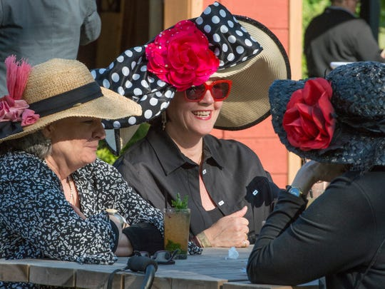 Scenes from last year's Derby party. This year's will take place at Banks Avenue on the South Slope.
