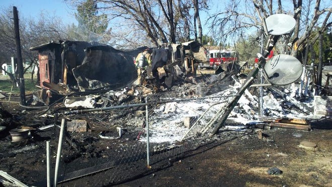 The Yavapai County Sheriff's Office is looking for a man who may have been involved in a blaze that destroyed a home in Cordes Lakes on Dec. 5, 2015.