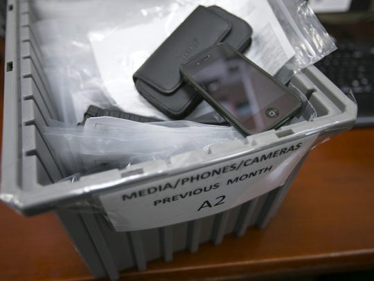 An iPhone that was left behind at a TSA checkpoint