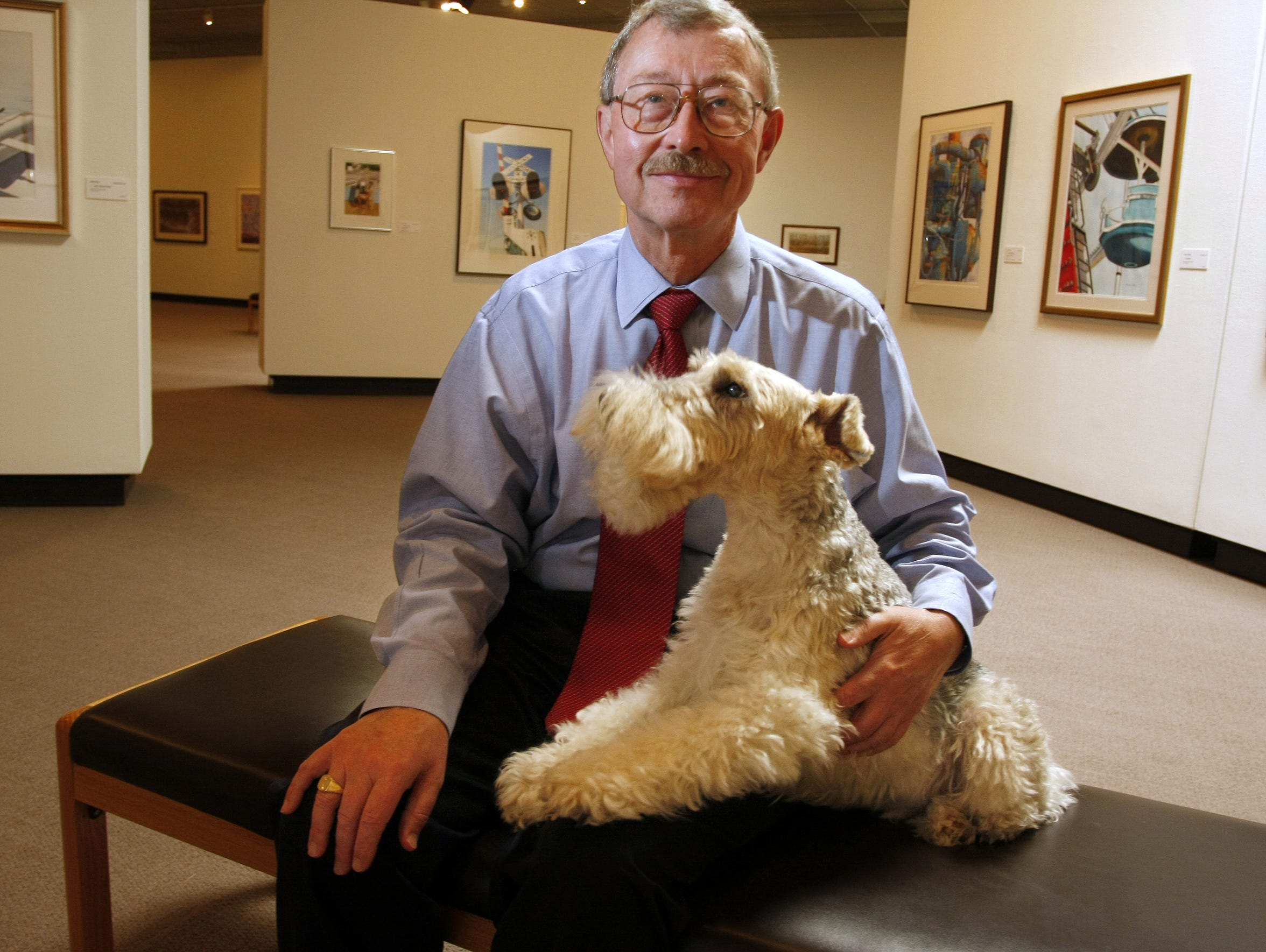 Jerry Berger, pictured in 2008 with his dog, Polo,