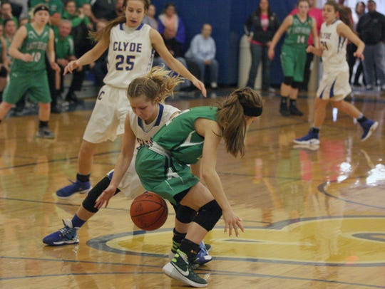 Heidi Marshall helped Clyde steal a win from Margaretta.
