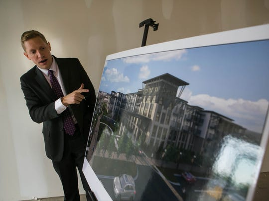 Michael Hoffman first unveiled plans for the College Square property in May 2018.