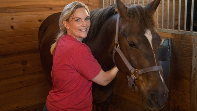 Valerie Pierzina was recently certified as a master equine sports massage therapist, through Therasage EMC.