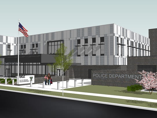 Rending of the new Vineland Police Department headquarters now under construction at 620 E. Plum St.