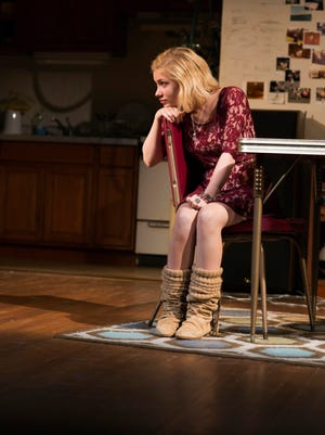 """Tavi Gevinson is shown in a scene from """"This Is Our Youth,"""" by Kenneth Lonergan, directed by Anna D. Shapiro, at the Cort Theatre."""
