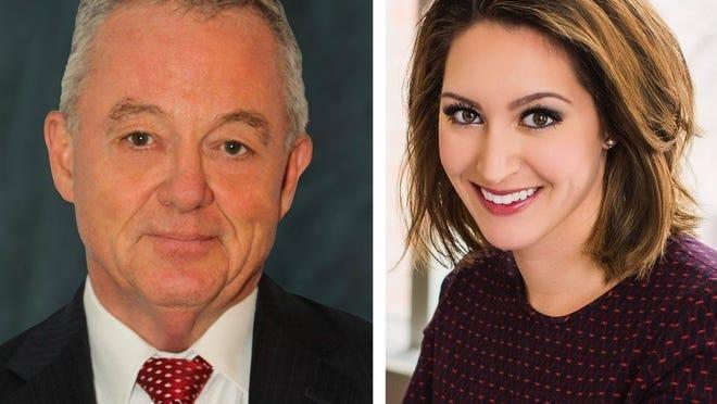 Democrat John B. Dolan III, left, is running against incumbent Register of Probate Stephanie Fattman, a Republican.