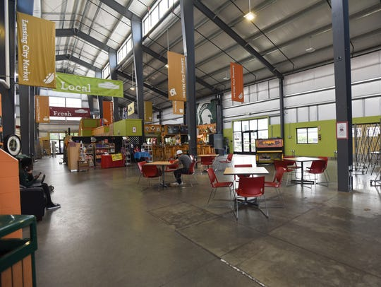 The interior of the Lansing City Market pictured Wednesday
