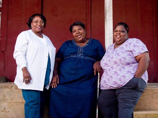The Como-based gospel trio the Como Mamas said performing