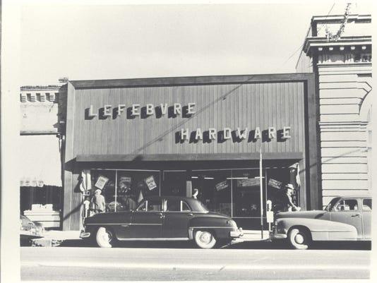 Lefebvre Hardware, 1449 Market Street.  (Eastside) Early '50s.