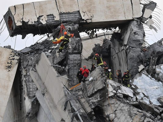 Italy Highway Collapse (2)