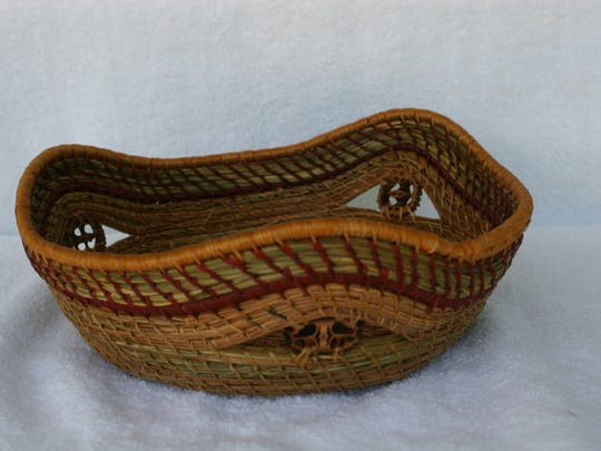Viola Pace Knudsen pine needle basketry will be on display during the festival.