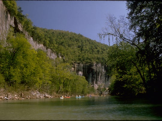 The Buffalo National River in Arkansas is one of the