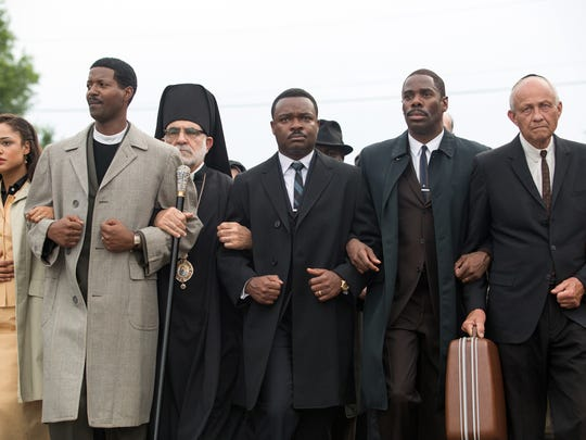 """Paramount Pictures No weak links in the cast of Selma, from left: Tessa Thompson, Corey Reynolds, David Oyelowo and Colman Domingo. Tessa Thompson, left, plays Diane Nash, Corey Reynolds plays Rev. C.T. Vivian, David Oyelowo and Colman Domingo in a scene from ?Selma.? Atsushi Nishijima, Paramount Pictures No weak links in the cast of Selma, from left: Tessa Thompson, Corey Reynolds, David Oyelowo and Colman Domingo. Tessa Thompson, left, plays Diane Nash, Corey Reynolds plays Rev. C.T. Vivian, David Oyelowo plays Dr. Martin Luther King, Jr. and Colman Domingo plays Ralph Abernathy in a scene from the motion picture """"Selma."""" CREDIT: Atsushi Nishijima, Paramount Pictures [Via MerlinFTP Drop]"""
