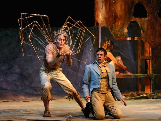 "Willamette University graduate Michael Brusasco (left) performs in Utah Shakespeare Festival's production of ""The Tempest."""