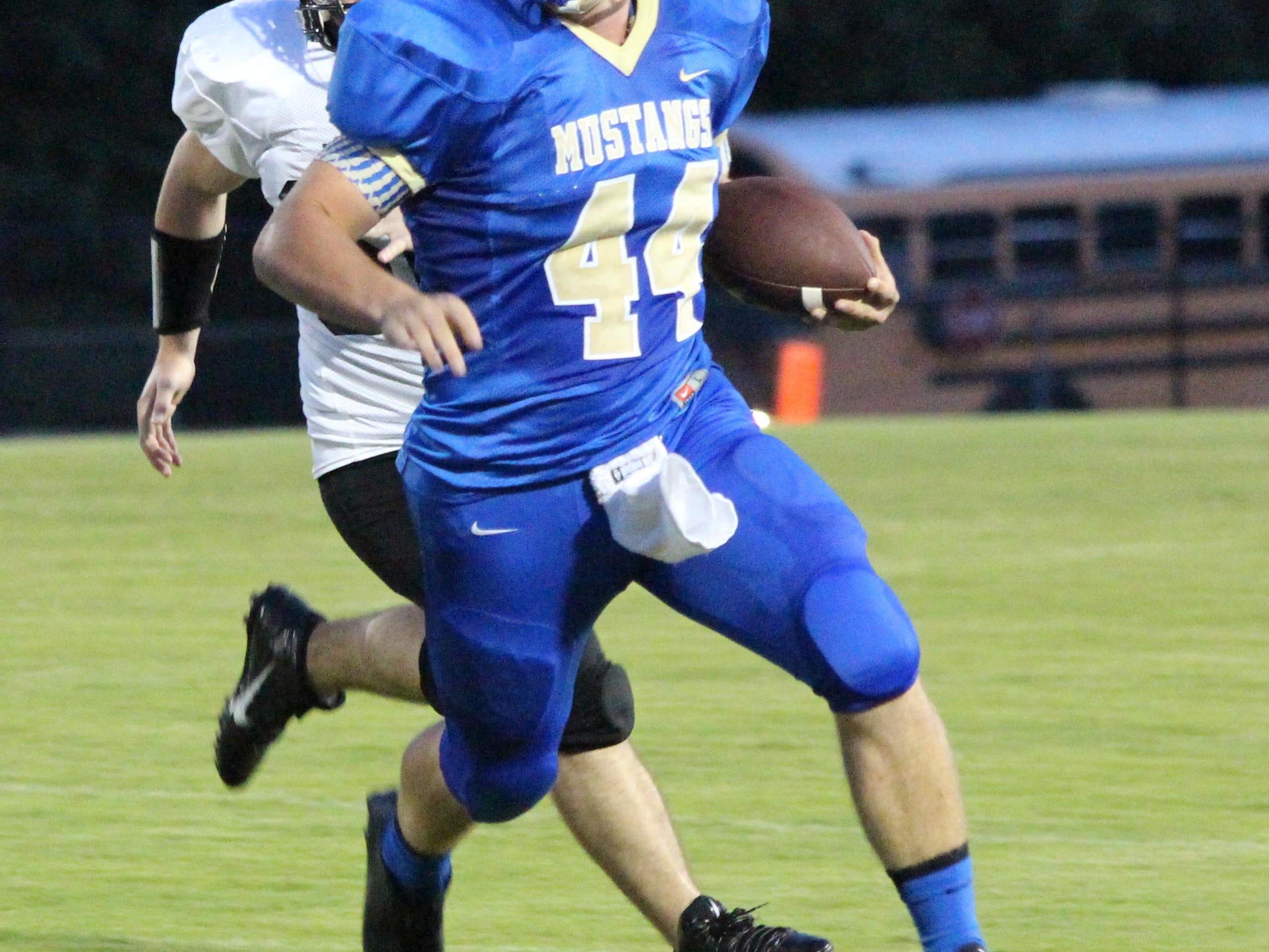 Kade Pearson plays football and baseball at Huntingdon High School.
