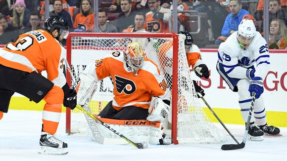 Michal Neuvirth was the best Flyer on the ice Thursday night, helping them to an overtime win over Toronto.