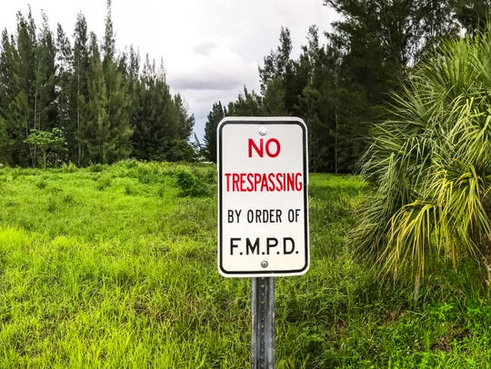 "A ""No Trespassing"" sign has been posted on once considered"