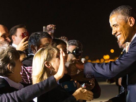 President Barack Obama visits Phoenix
