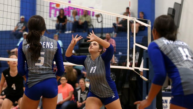 McKenzie Pittman (17) and the Lake View High School volleyball team open play in the Nita Vannoy Memorial Tournament  at 8 a.m. Friday against Sonora at Lake View's Ben Norton Gym.