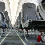 Spirit Airlines has some of the tightest cabins in the skies, but its non-reclining seats prevent confrontations between passengers.