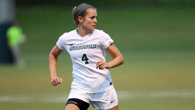 Former Stetson women's soccer standout Sarah Collins was named to the ASUN Conference All-Decade Team, the league announced.