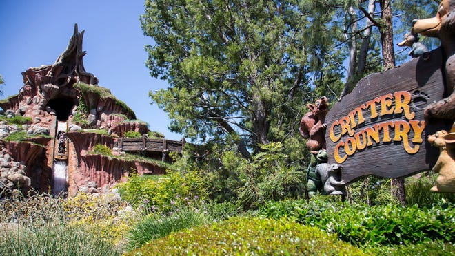 """Disneyland and Disney World's attraction """"Splash Mountain"""" has an innocuous-sounding name, but the ride includes characters and plotlines (including a rabbit who outsmarts a fox and a bear after they torture him) from the Jim Crow-era film """"Song of the South."""""""