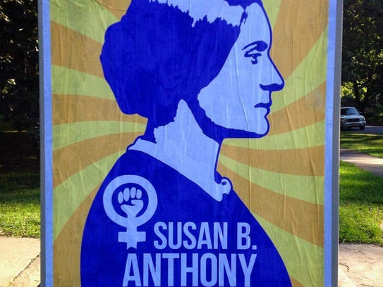 Local artist Mike Dellaria commemorated Women's Equality