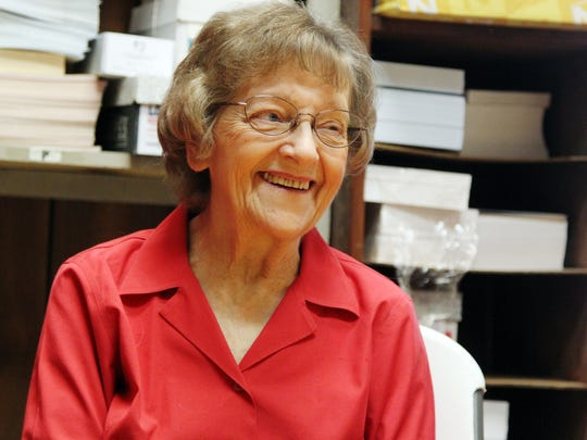 Betty Lowry speaks to The Advertiser Tuesday, April 7, 2015, at Lowry's Printing and Copying in Lafayette, La.