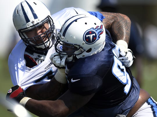Titans rookie Austin Johnson is third on the team's unofficial depth chart.