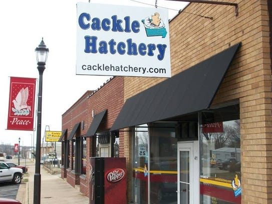 The exterior of Cackle Hatchery in Lebanon, a third