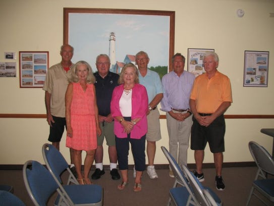 Returning Fenwick Island town council members were