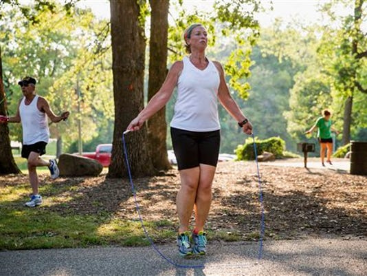 Saying you don't have time to exercise isn't an excuse. Here are simple ways to squeeze physical activity into your day. (Associated Press/The State Journal-Register -- Justin L. Fowler)