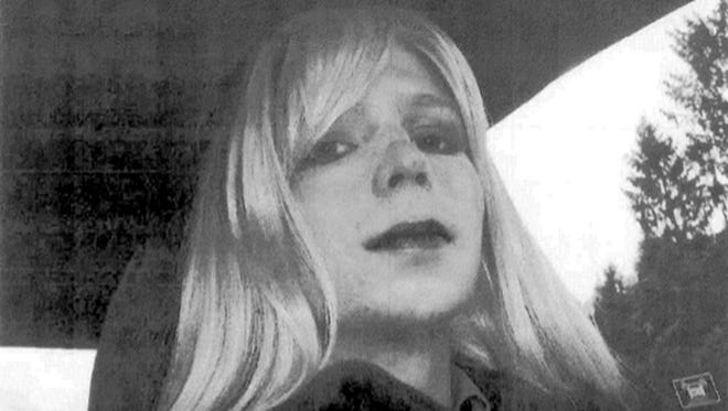 An undated file photo provided by the U.S. Army shows Pfc. Chelsea Manning.