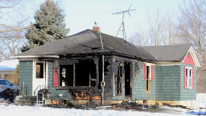A fire ripped through this house in the 1900 block of Howell Road in Mason in the early morning hours of Monday, March 2, 2015. No one was hurt.