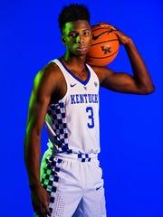 University of Kentucky basketball player Hamidou Diallo. Sept. 18, 2017