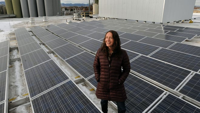 New Belgium Brewing Co. and its solar panel array, shown here in 2009, participated in FortZED projects.