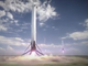 Rendering: Two Falcon Heavy boosters landing at Cape