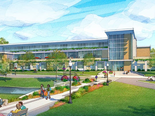 This architect's rendering shows the newhealth professions