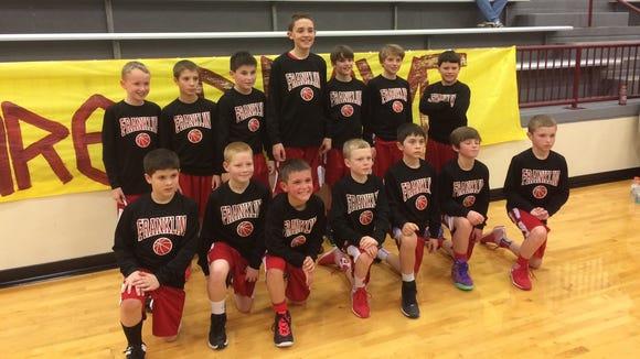 The Franklin termites boys basketball team.