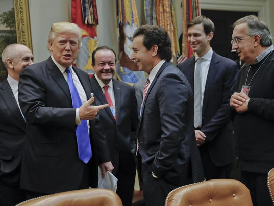 Donald Trump,Mark Fields,Sergio Marchionne,Jared Kushner.