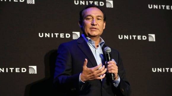 This file photo from June 2, 2016, shows United Airlines