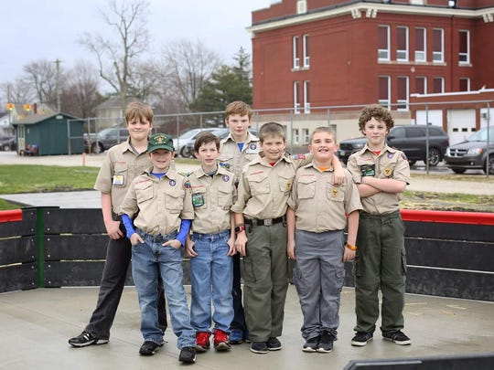 Members of Boy Scout Troop 316 built the new Gaga Ball